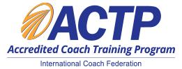 ICF ACTP logo